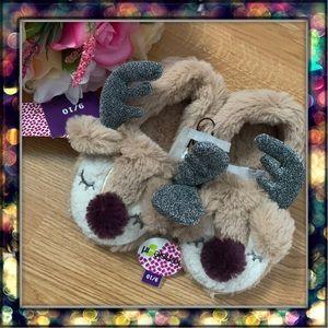 [Kensie] Girl reindeer slippers